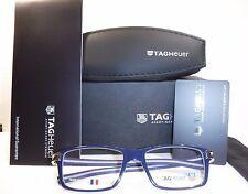 New Tag Heuer Eyeglasses TH 7603 Track S  003 Smart Blue/Light Grey 50-17-145