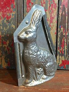 "Vtg Antique Weygandt # 334 Metal Sitting Easter Bunny Rabbit 6"" Chocolate Mold"