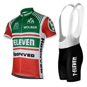 Retro 1986 7-Eleven Davis Phinney Cycling Jersey and  Bib Short Set