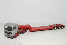 CONRAD VOLVO F16 TRUCK WITH LOWBED TRAILER TALBERT GREY RED NEAR MINT