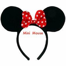 Minnie Mini Mouse Ears Headband Womens Girls Mickey Party cosplay Fancy Dress
