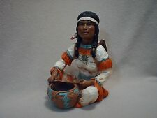 Universal Statuary Native American Indian Figurine/Statue1976 Signed V.Kendrick