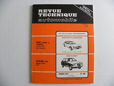 revue technique automobile RTA neuve Citroën VISA Spécial et Club 4 cv n° 386