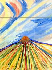 Russian Avant Garde  Art Mural Decor Colorful Travertine Tile #682