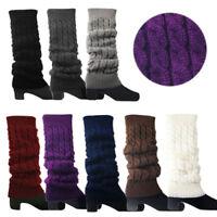 Womens Crochet Knit Braided Winter Leg Warmers Boot Cuffs Toppers Socks US Well
