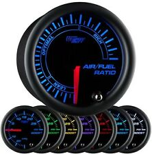 52mm GlowShift Black 7 Color Needle Air / Fuel Ratio Gauge - GS-C702 Glow Shift