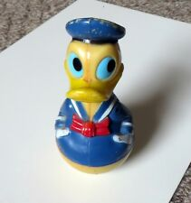 Donald Duck Vintage 1975 Wobble Rattle Toy Disney Made in Hong Kong