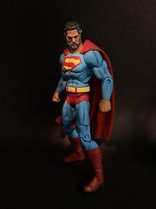 Custom Superman Old Man Kal  Kalel With Age And Beard-light Suit New Symbol
