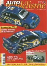 AUTO MODELISME N°78 MITSUBISHI LANCER / COOPER MASERATI V12 / ALLARD J2X / BUICK