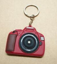 Japan Canon Camera EOS1100D Brown Red Rubber Keychain Souvenir (B448)