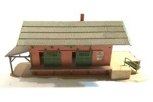 "Vintage FALLER Germany Christmas Village Display Train Depot?  8x 3.5"""