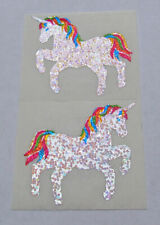 2 Beautiful Glittery Prism Hambly Rainbow Unicorns Sticker Mods
