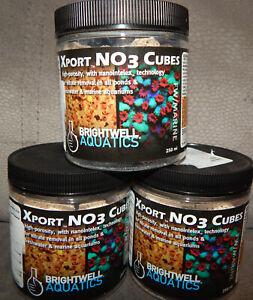 Lot of 3 Brightwell Aquatics Xport NO3 Cubes 250 ml Denitrification Filter Media