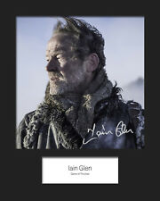 GAME OF THRONES - JORAH MORMONT (Iain Glen) #3 Signed 10x8 Mounted Photo