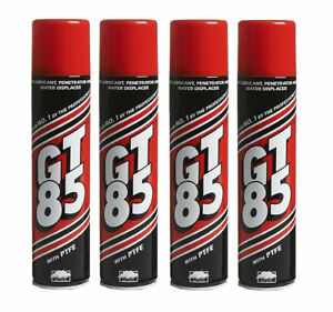4 x GT85 SPRAY LUBE PTFE LUBRICANT PENETRATOR WATER DISPLACER CORROSION 400ML