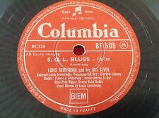 78 rpm - LOUIS ARMSTRONG AND IS HOT SEVEN- S O L blues - COLUMBIA BF 505