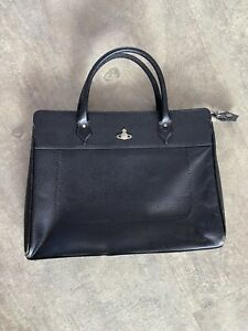 Vivienne Westwood Vintage Leather Briefcase Black VERY RARE