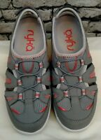 Ryka Hula Women's Gray & Coral Leather Sports Sandals Fisherman Shoes Sz 6M