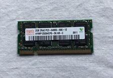 2GB Hynix HYMP125S64CP8-S6 PC2-6400 2RX8 NON-ECC SODIMM RAM - WORKING SYS PULL