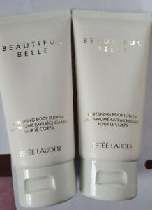 Estee Lauder (2) Two Beautiful Belle Refreshing Body Lotions 2.5 oz / 75 mL NWOB