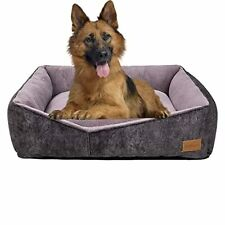 New listing Coohom Rectangle Washable Dog Bed,Warming Comfortable Square Pet