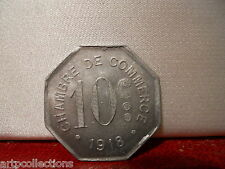 1918 ROUEN COMMERCE MONNAIE JETON NECESSITE 10C