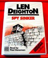 Len Deighton Spy Sinker Bernard Samson/Hook Line 10-Tape UNAB Audio Paul Daneman