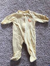 Baby Boys Girls Yellow Duck Cotton Pajamas Pjs Sleeper Carters Small 0-3 Months