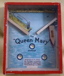 Vintage The Queen Mary Liner Dexterity Puzzle by R Journet London