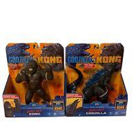 Godzilla Vs. Kong Battle Roar Godzilla & King Kong Figure Lot Playmates