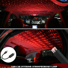Red USB Car Interior Atmosphere Starry Sky Lamp Ambient Star Light LED Projector