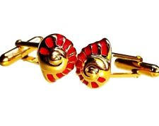 Snail Cufflinks, Enamel, Gold, Sterling Silver. G.DANILOFF & CO.
