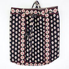 Vera Bradley Classic Black Drawstring Backpack Bookbag Handbag Tote Bag