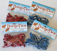 4 Packs of BongoTies - RED and BLUE - FREE HULA GIRL TATTOO - FREE SHIPPING TOO!