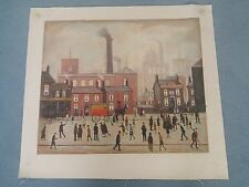 """""""Coming Home From Mill"""" Oil on Canvas Painting  In the Style of L S Lowry"""