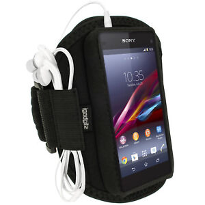 Black Sports Armband for Sony Xperia Z1 Compact D5503 Gym Running Jogging Case