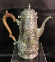 Fantastic George II Silver Coffee Pot, Richard Bayley, London, 1748