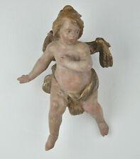 Engelsputto, ca. um 1850-1900, Holz geschnitzt, gefasst, 24 cm Putto Engel Putti