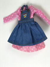 Blythe doll clothes 3 pieces dress top shirt skirt