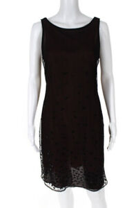 Nicole Miller Collection Womens Sequined Sleeveless Dress Red Black Size 8