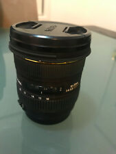 Sigma lens 10-20mm 1:4-5.6 EX DC HSM for Canon with 2 filters