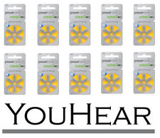 Power One Hearing Aid Batteries P 10 (10 Packets 60 Batteries Total) Size 10