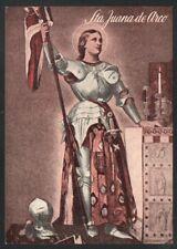 Holy card postale antique of Santa Juana de Arco stamp santino image pieuse