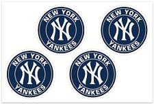 (4) New York Yankees MLB Decals / Yeti Stickers *Free Shipping