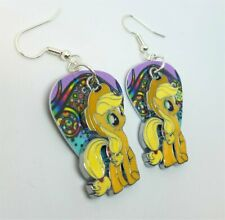 Yellow My Little Pony Charm Guitar Pick Earrings - Pick Your Color