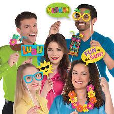 13 Tropical Luau Aloha Summer Sun BBQ Party Hand Held Photo Booth Props