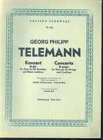 TELEMANN ~ Konzert in D-Dur für Horn, Streicher und Basso continuo - Klavierausz