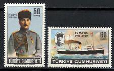 (Ref-8501) Turkey 1969 50th Anniv.Kemal Ataturks Landing SG.2279/2280 Mint (MNH)
