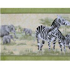 bordure Tapis salle à manger 11054904 Afrique Zèbre ELEPHANTS 5m BORDURE