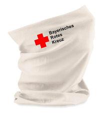 Halstuch Universaltuch Morf in weiß mit Aufdruck Bayerisches Rotes Kreuz BRK